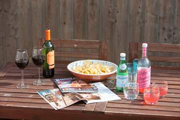 Grab a magazine, a glass of wine and enjoy the sun in the garden