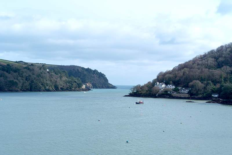 Looking up the River Dart. Just makes you want to sail away doesn't it! (not the view from the property)