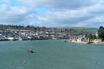 Looking back at Dartmouth from across the River Dart. What a fantastic holiday location!