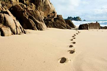 The beaches in the area, such as Porthcurno, are fabulous at any time of the year.