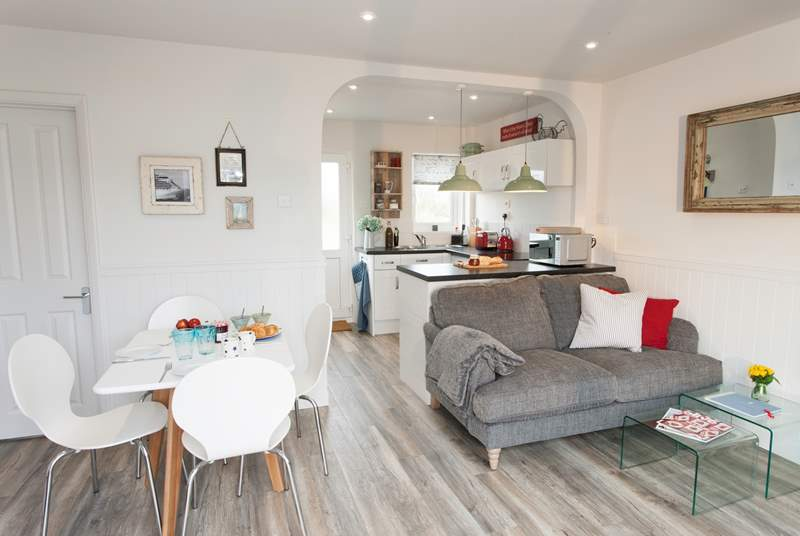 The open plan living space is ideal to keep an eye on little ones.