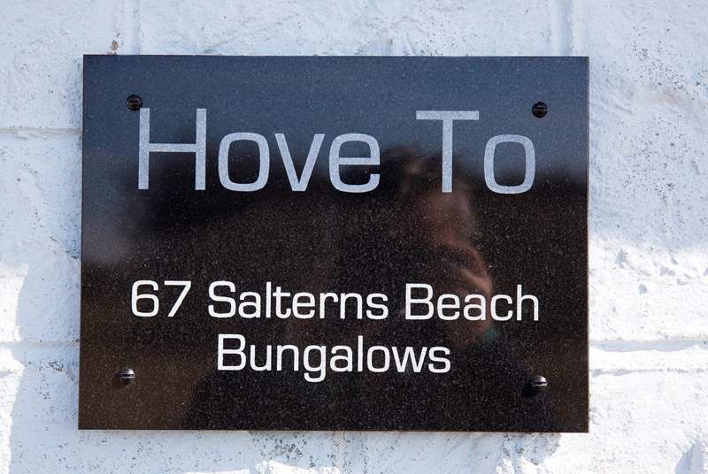 Hove to, 67 Salterns Bungalow
