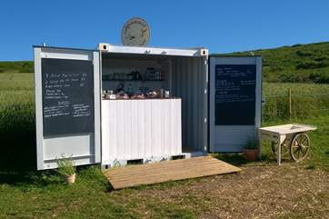 The Moomaid ice cream cabin on the Zennor cliff path.