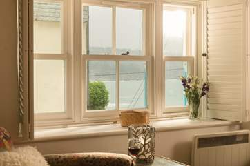Wonderful views from the sitting-room window over the harbour and beyond.