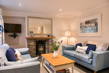 Woodside Cottage has a toasty wood-burner making this an ideal reatreat all year round.