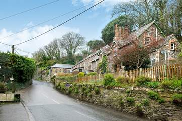 Woodside Cottage is elevated above the main road through the village.