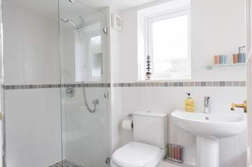 The bathroom en suite to Bedroom 3.