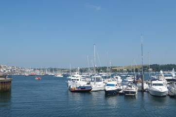 Falmouth is full of yachts of all sizes (not the view from the property).