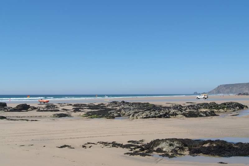Porthtowan on the north coast is a family-friendly surfing beach, just half an hour away by car.