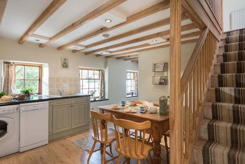 The pretty cottage kitchen/diner.