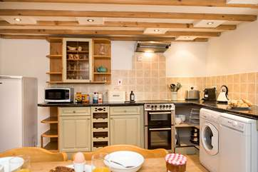 This is a proper country kitchen - ideal for couples or families.