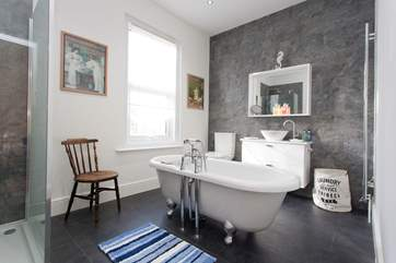 The en suite off the master bedroom is a fabulous size to get ready in the morning with ease.