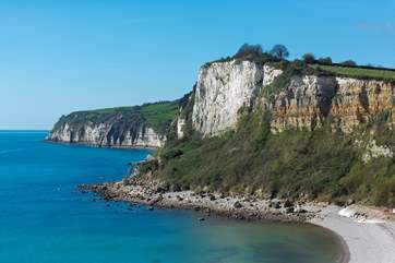 This little beach nestles between Seaton and Beer and is accessible from the South West Coast Path,