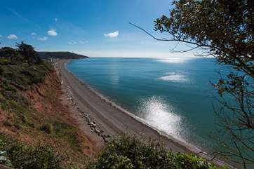 There are spectacular views along this stretch of the Jurassic Coast.