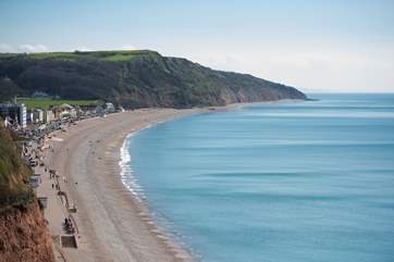 Seaton, a five minute walk, has a mile-long pebble beach.
