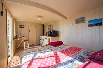 This delightful shepherd's hut is fully equipped with everything you will need.
