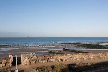 Enjoy these spectacular views from the balcony off the double bedroom out to the Old Forts