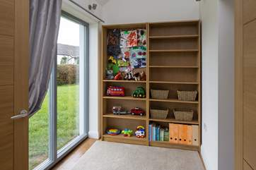 Delightful playroom for the smaller members of the group. Nicely linked to the living area and the kitchen via inter-connecting doors.
