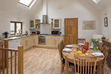 The spacious kitchen/dining area.