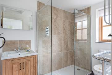 A big walk-in shower with monsoon shower head....bliss after a days walking, cycling or exploring.