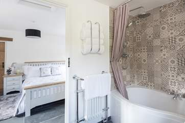 Beautiful tiles, fluffy towels, oodles of hot water...what more could you want?