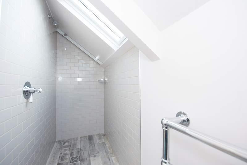 The walk-in shower in the first floor en suite shower-room.