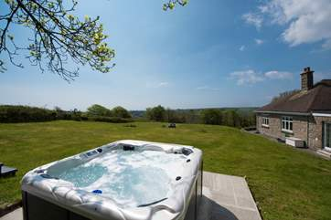 Relax in your hot tub.