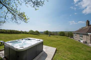 Private, with lovely views, and your own hot tub.