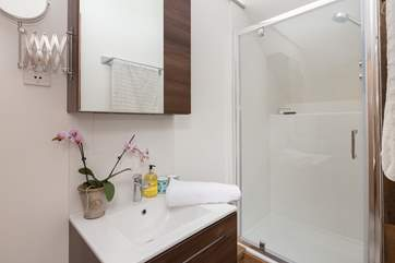 This is the en suite shower-room with super-size shower.