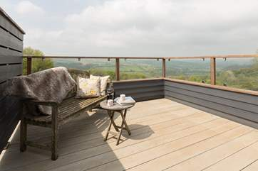 Breathtaking panoramic views across rural mid-Devon from the balcony on this very special working farm.