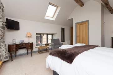 There is plenty of storage space in this fabulous bedroom