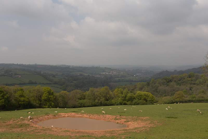 Panoramic views from the decking and the balcony across this beautiful valley.