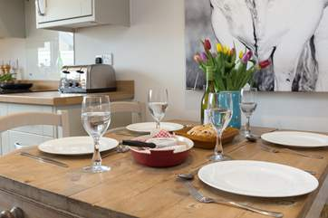 Eating in is yet another treat as you will not want to leave this cottage!