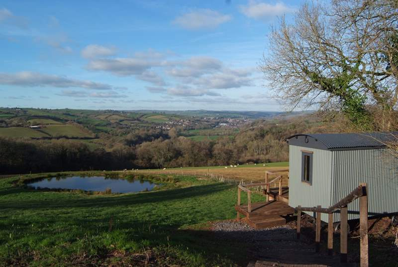 The cottage is at the heart of a stunning farmstead with an incredible hill-top setting. A wonderful Shepherd's Hut  has been provided for guests to sit and enjoy the view.