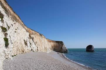 Freshwater Bay is one of the most picturesque beaches on the west side of the Island