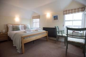 The second floor bedroom (this room also boasts an en suite cloakroom).