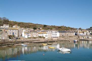 Mousehole Harbour, also nearby.