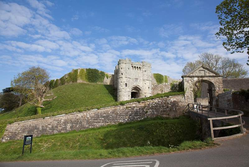 Carisbrooke Castle is a a quintessential historic building just 10 minutes down the road