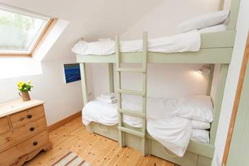 Bespoke bunk-beds designed and made by the Owner
