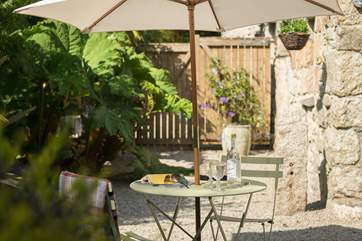 The courtyard is a real sun-trap, the perfect spot for breakfast or a glass of something chillled.