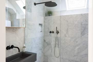 Wall to wall marble in your glamorous wet-room shower.