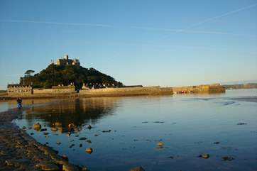 The beautiful St Michael's Mount in nearby Marazion.