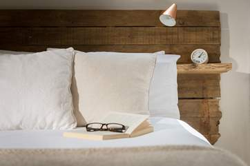 Choose a good book to read from the wide selection and take it to bed.