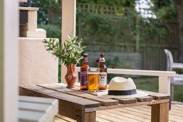 Enjoy a cold local ale whilst waiting for the barbecue to heat up.