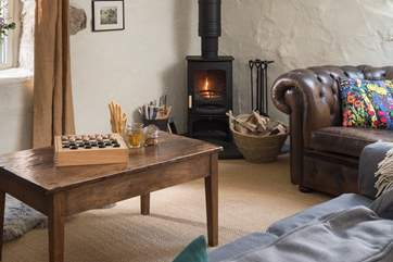 Cosy days and evenings playing games and chatting with friends and family around the wood-burner.