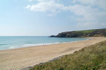 The long sandy beach at Praa Sands is just over 2 miles away.