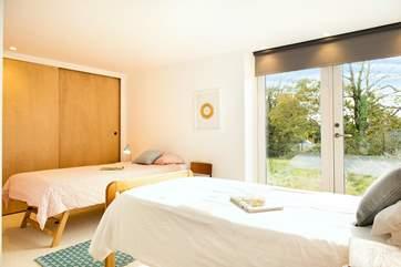Bedroom 3, the twin bedroom.