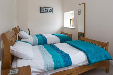 Spacious and comfortable twin bedroom.