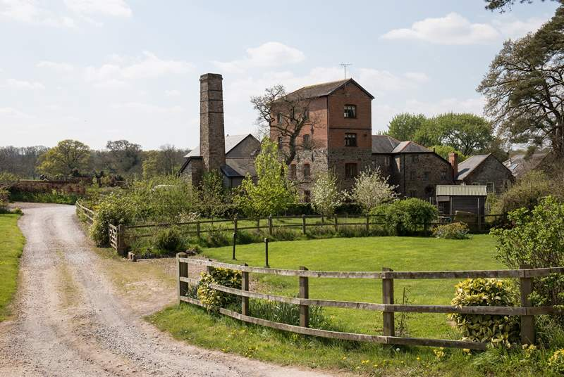 Newland Mill from the driveway entrance.