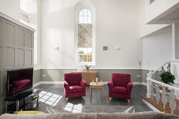 Under-floor heating keeps Trelowth Chapel toasty warm all year round.